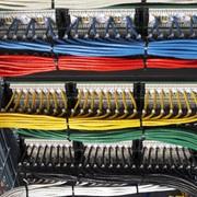 Монтаж кабельных сетей СКС фото