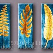 Картина по номерам Золотые листья фото