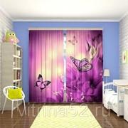 "Фотошторы ""Пурпурные бабочки"" фото"