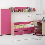 Детская комната Легенда 26 венге светлый/розовый фото