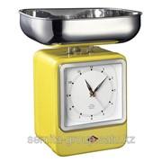 Wesco Кухонные весы-часы Retro Style, 322204-19, желтые 322204-19 фото