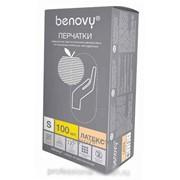 Перчатки латексные смотровые неопудренные,текстурир,Benovy, размеры XS, S, M, L ВЕС 6,4 грамма (М) М фото