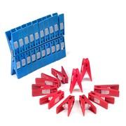 Прищепки для белья с полипропиленовым фиксатором (40 штук) фото