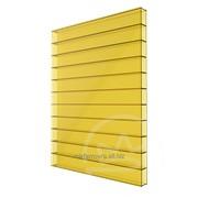 Сотовый поликарбонат 4мм желтый Soton фото