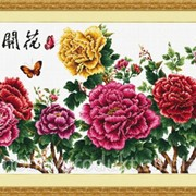 """Набор для вышивания """"Счастье приходит с цветущими цветами"""" 80603 фото"""