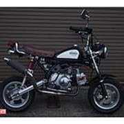 Мопед мокик Honda Monkey рама Z50J Minibike тюнинг пробег 131 км синий белый фото