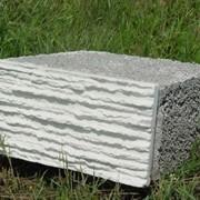 Полистиролбетонный блок с облицовочной плиткой фото