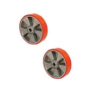 Колесо б/подш полиуретан 180х50мм для модели AC DF фото