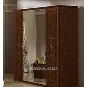 Шкаф 4-х дверный Мартина Орех фото