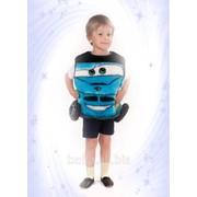 Карнавальный костюм Машинка синяя фото
