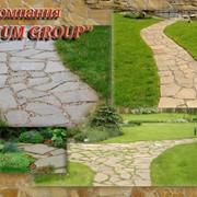 Садовые дорожки из натурального камня. фото