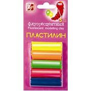 Пластилин Флуоресцентный, 5 цветов фото