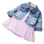Платье плюс джинсовая куртка фото