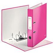 Папка-регистратор Leitz WOW, картон, 50 мм, розовый фото