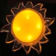 Космос KOCNL_LP1004 ночник 1W 4LED солнце, 220V, пластик, без выкл., 1 цвет фото