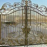 Кованые ворота Золото №52 фото