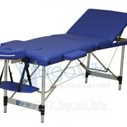 Складной массажный стол алюминиевый ErgoVita CLASSIC PLUS (3-х секционный, синий) фото