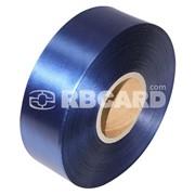Печать на кобальтово-синей сатиновой ленте фото
