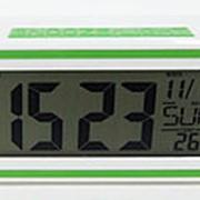 Часы с будильником 12:17 (t) (зелёный) фото