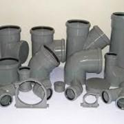 Трубы полиэтиленовые канализационные фото