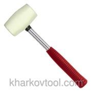 Киянка резиновая 680г белая резина, металлическая ручка Intertool HT-0235 фото