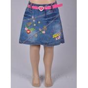 Детская джинсовая юбка на резинке и Артикул 5334 фото