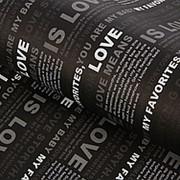 Подарочная упаковка Газета (черная) фото