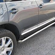 Пороги VW Touareg 2010–2018 (вариант 1 труба 63 мм) фото