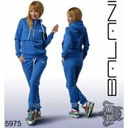 Теплый спортивный женский костюм электрик фото