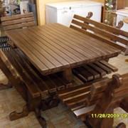 Набор мебели для отдыха из дерева фото