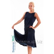 Dance Me Юбка для латины ЮЛ185 женская, масло, темно синий фото