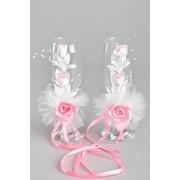 Украшения на бокалы, Веточка, розовый (роза) фото