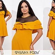 Необыкновенное женское платье с воланами (4 цвета) - АК/-761 фото