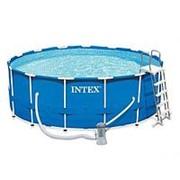 Бассейн каркасный 4,57*84см Intex 28240 (фильтр-насос, лестница, подложка, тент) фото
