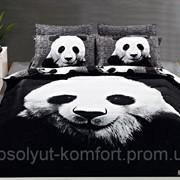 Постельное белье семейное сатин ARYA Panda 1001594 фото