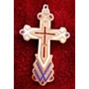 Крестик золото,эмали Россия,19 ст. фото