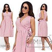 Женское коттоновое платье на запах (4 цвета) - Бордовый PY/-003 фото