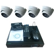 "Комплект видеонаблюдения ""Zodikam Combo Dome 4 POE"" (4 IP камеры+регистратор POE) фото"