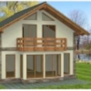 Панельно-каркасный дом с мансардой Н-12 фото