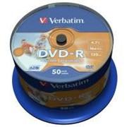 Диск DVD-R Verbatim 4.7Gb 16X CakeBox 50шт AZO Print (43533) фото