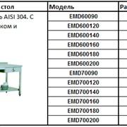 Рабочий стол нержавеющая сталь AISI 304 с полкой ,одним ящиком и бортиком фото