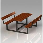Стол со скамейками Модель П28 фото