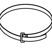 PB 300 (35шт./уп.) Хомут для крепления кронштейнов к трубе фото