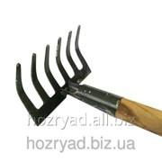 Грабли садовые с ручкой на 6 зубцов грабли/сад