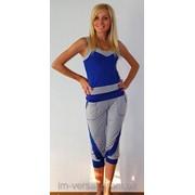 Костюм с бриджами синий фото
