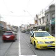 Реклама в такси фото