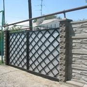Промышленные откатные ворота фото
