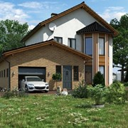 Проекты двухэтажных домов с гаражом фото