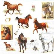 Салфетка для декупажа Мир лошадей фото