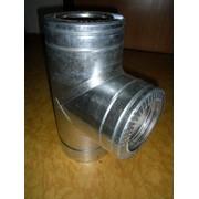 Тройник с теплоизоляцией: 87 н / оц, 0,5 мм, диаметр (ф300 / 360) фото